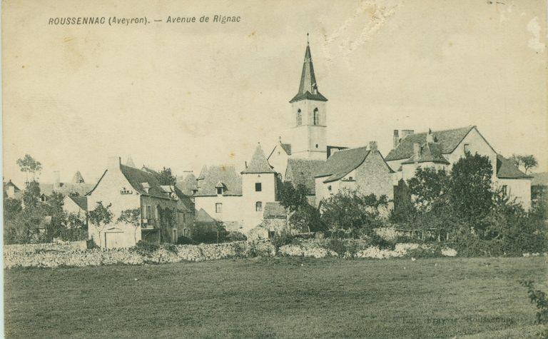 Le village de Roussennac avant