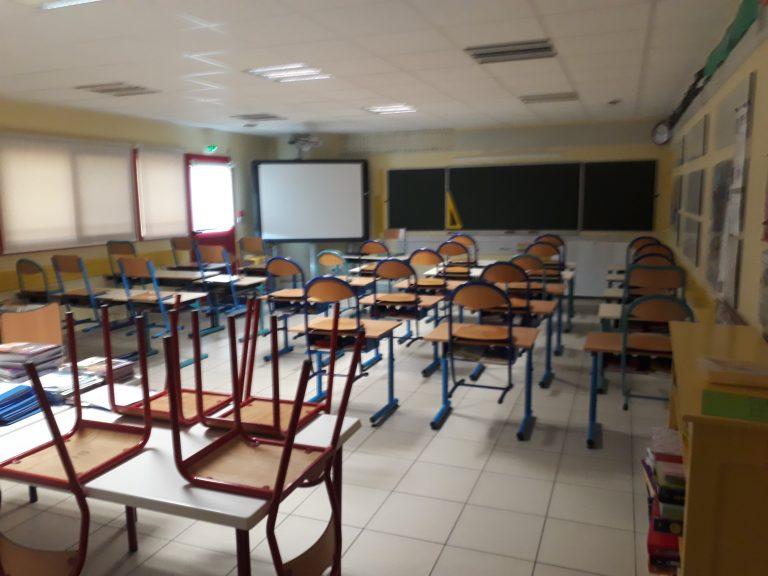 Classe de CE de l'école de Roussennac